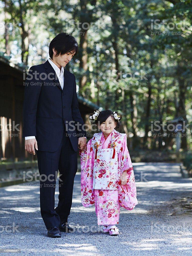 Celebrating Shichi-go-san stock photo