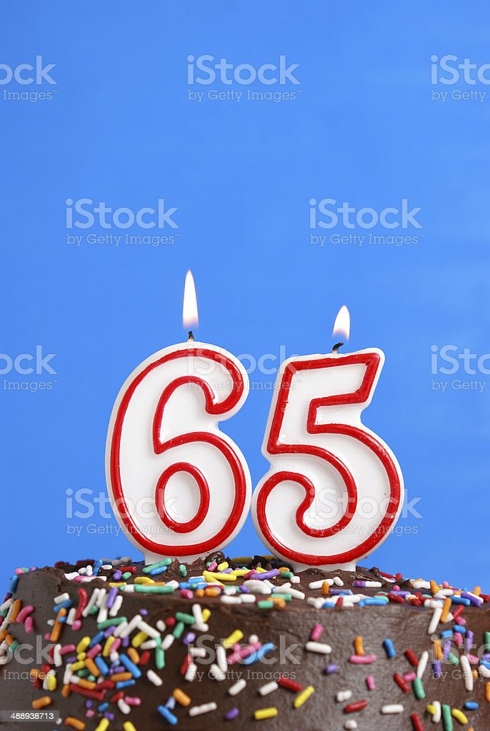 Celebrating Sixty Five Years stock photo