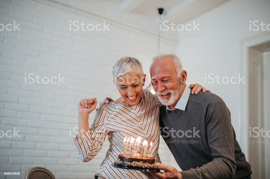 Celebrating special day together stock photo