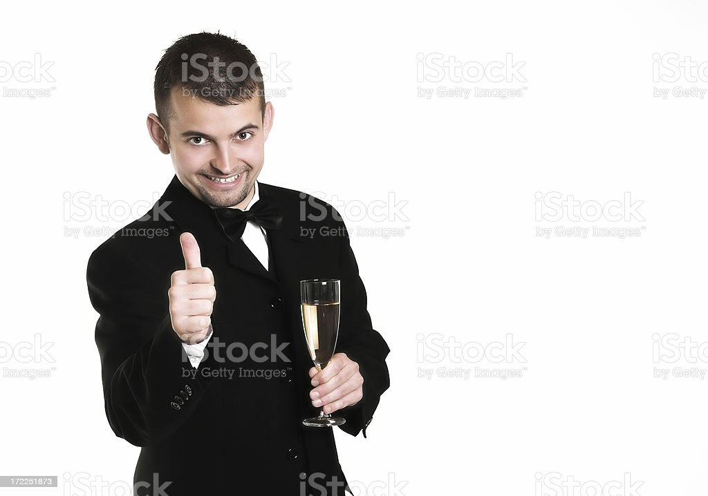 Celebrating success royalty-free stock photo