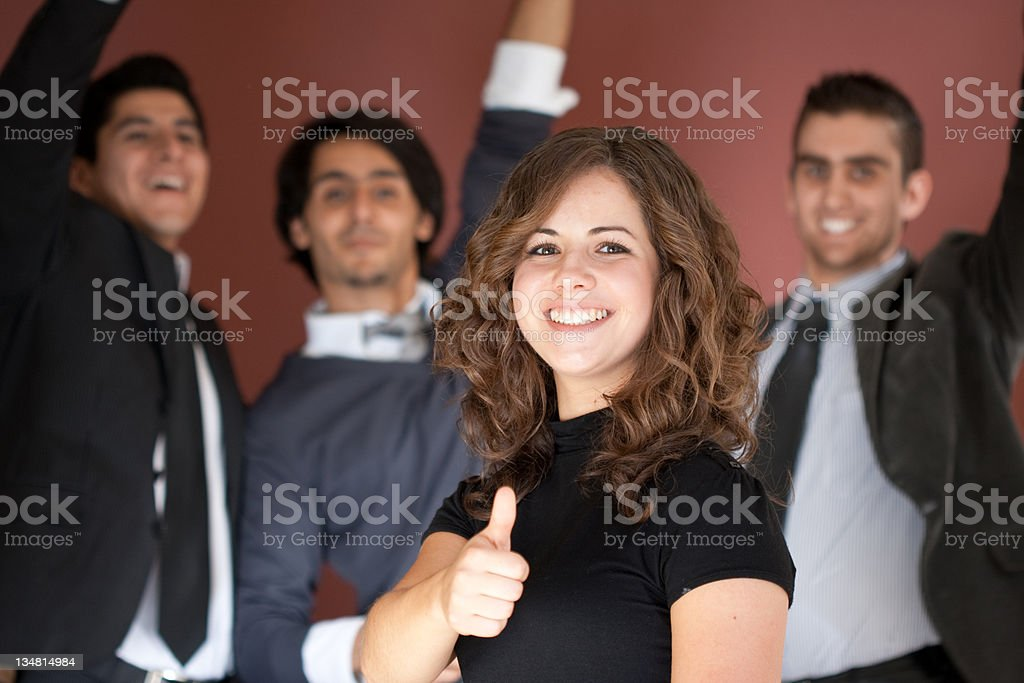 Celebrating sucess royalty-free stock photo