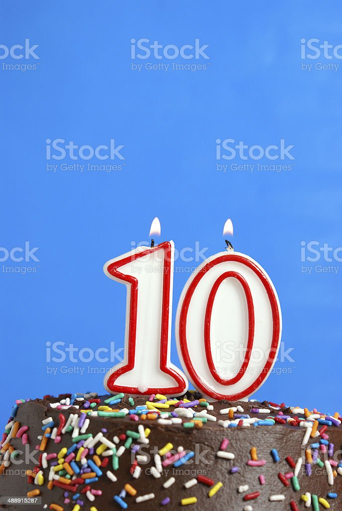 Celebrating Ten Years stock photo