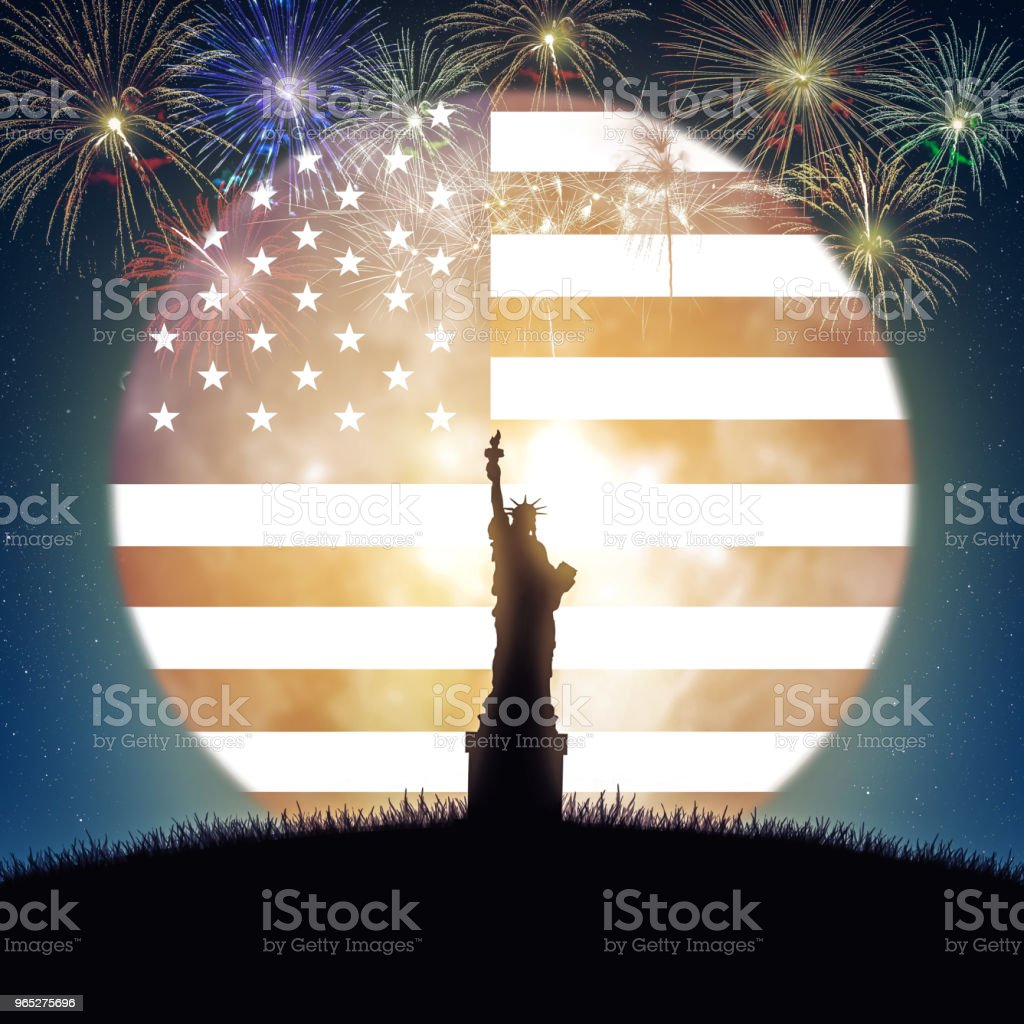 Celebrating the 4th of July, Independence Day of United State of America. royalty-free stock photo