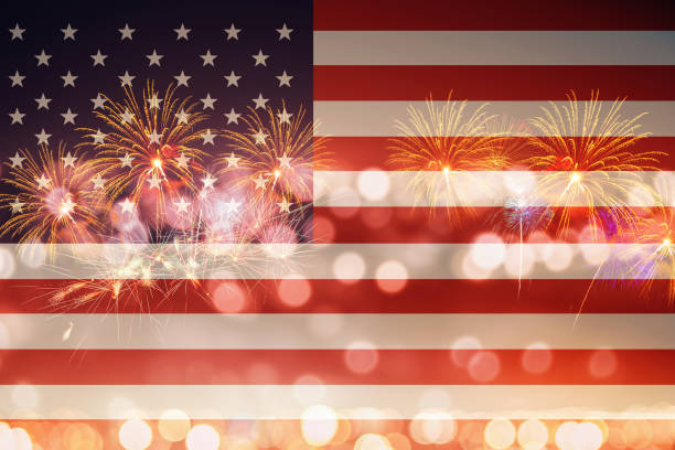 Celebrating the 4th of July, Independence Day stock photo