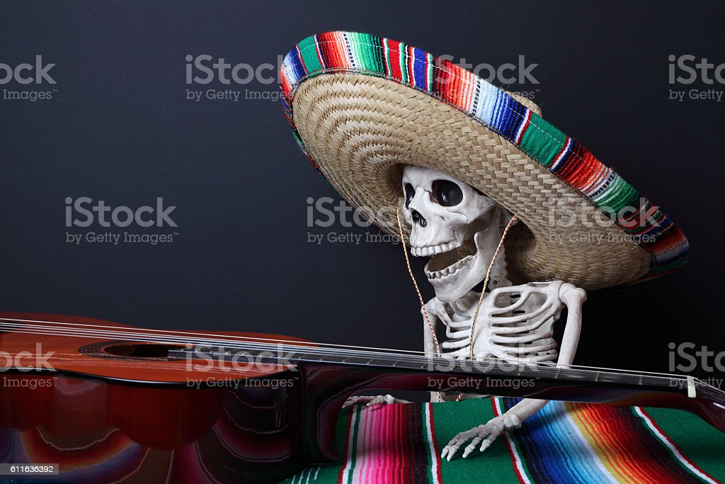 Celebrating the Day of the Dead royalty-free stock photo