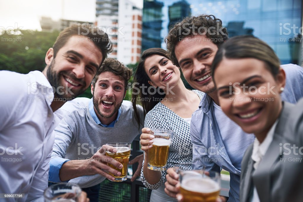 Celebrating the end of year - foto stock