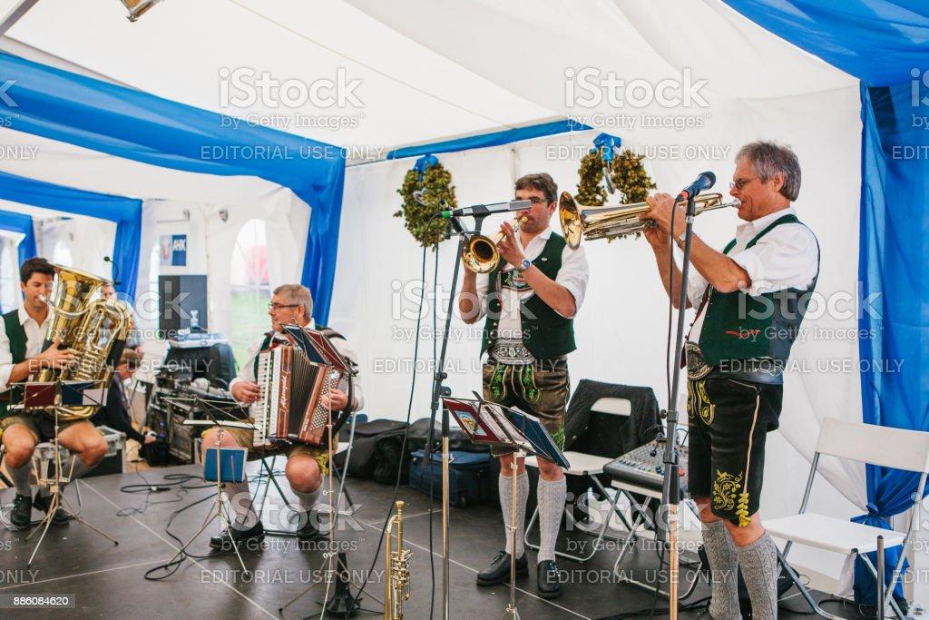 Celebrating The Traditional German Beer Festival Called Oktoberfest