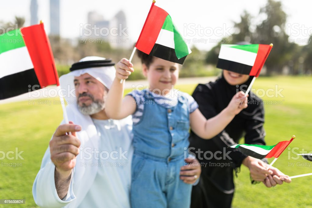 célébration de la journée nationale des Émirats Arabes Unis photo libre de droits