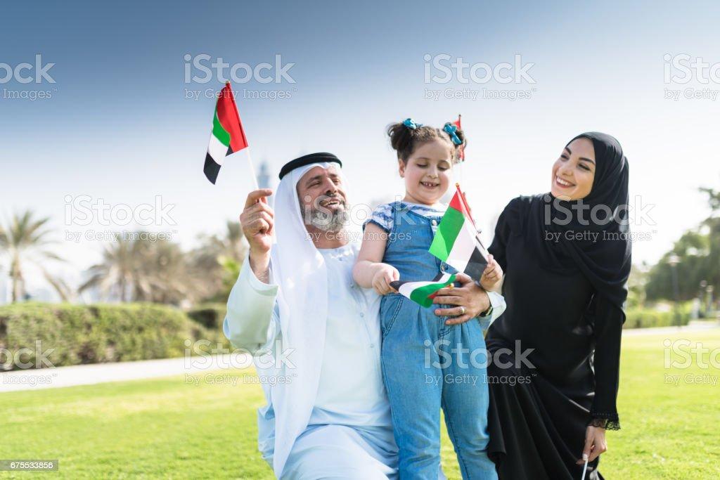 celebrating the uae national day stock photo