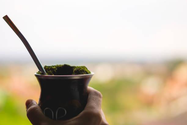 Feiert die Woche Farroupilha Chimarrao - das typische Getränk der Gaucho Menschen trinken – Foto