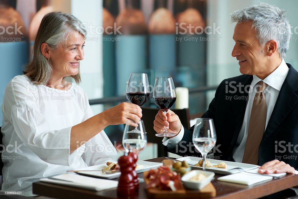 Celebrating their anniversary royalty-free stock photo