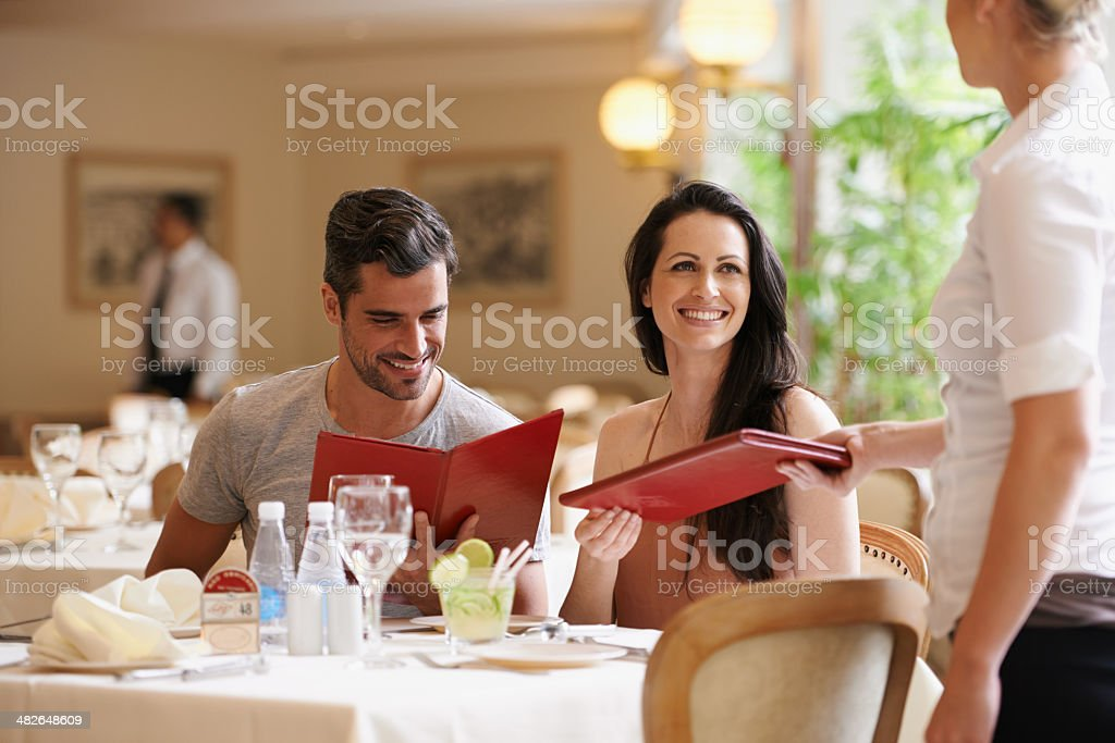 Celebrating their anniversary stock photo