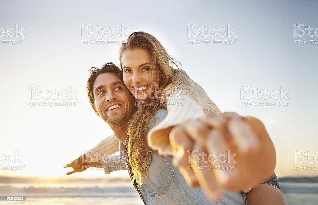 Celebrating their love! stock photo