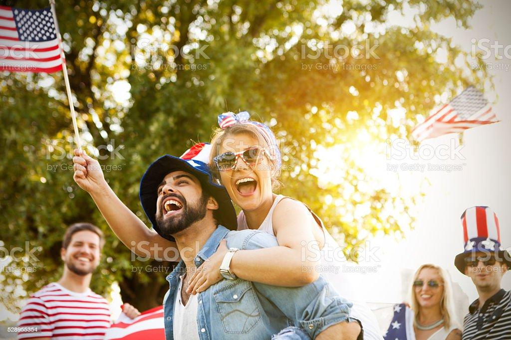 Celebrating United States stock photo