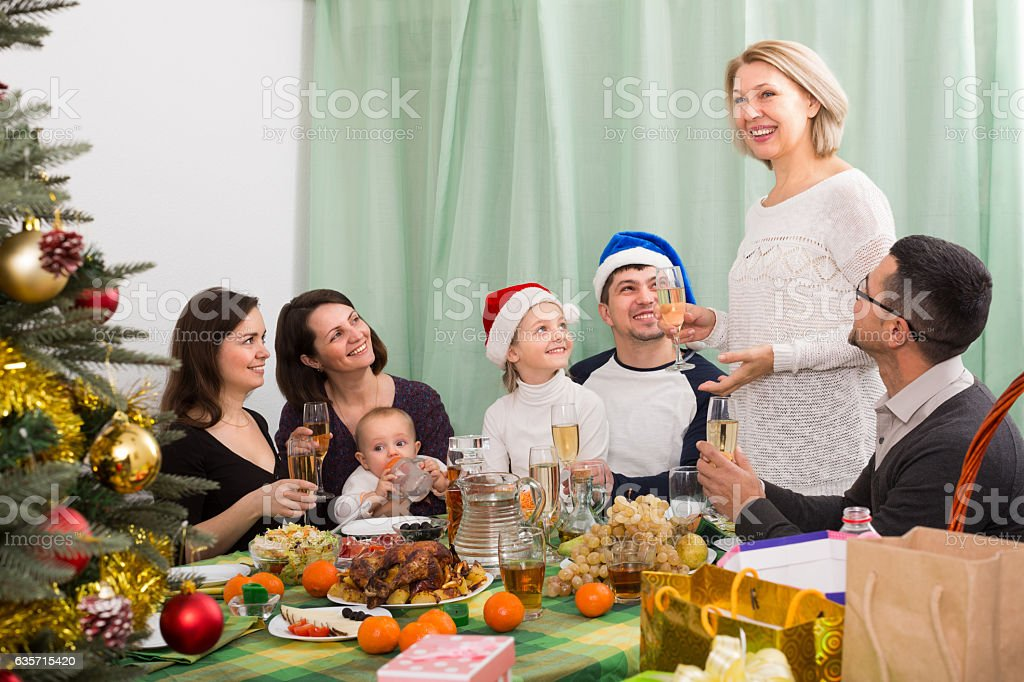 Celebrating with mom and dad royalty-free stock photo