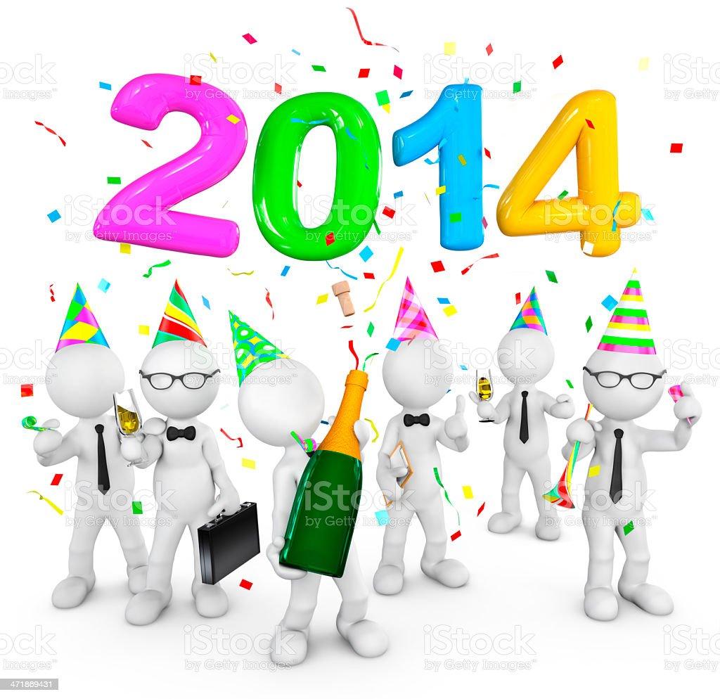Celebration - 2014 royalty-free stock photo