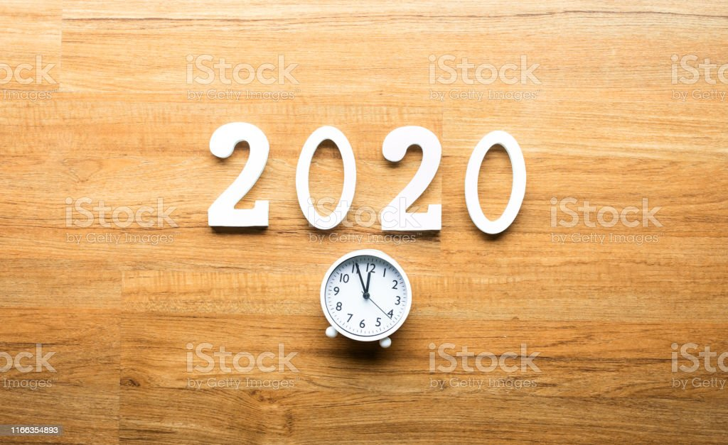 Celebration and countdown of new year 2020 concepts with text number...