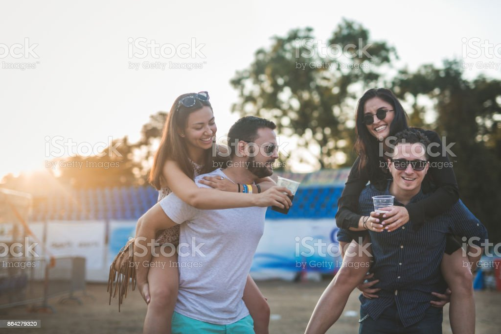 Celebration at music festival royalty-free stock photo