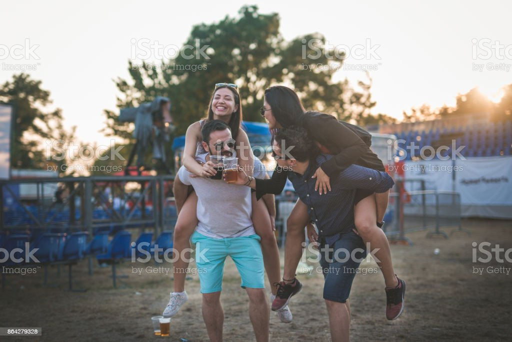 Celebration at music festival royalty-free stock photo