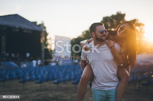 Celebration At Music Festival Stock Photo & More Pictures of Adult
