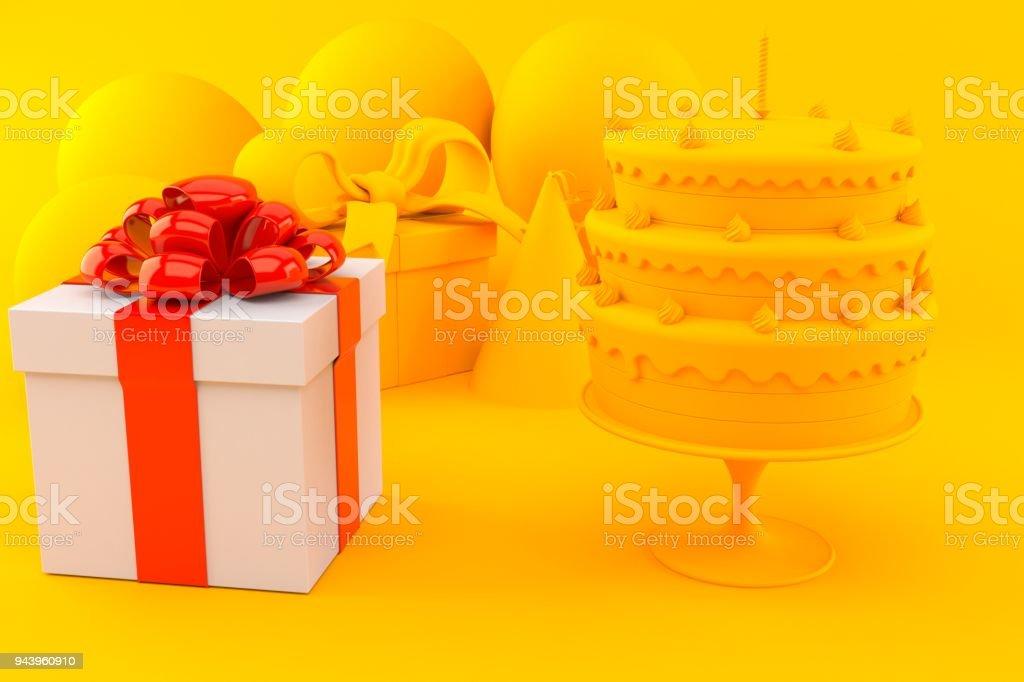 Celebration background with gift stock photo
