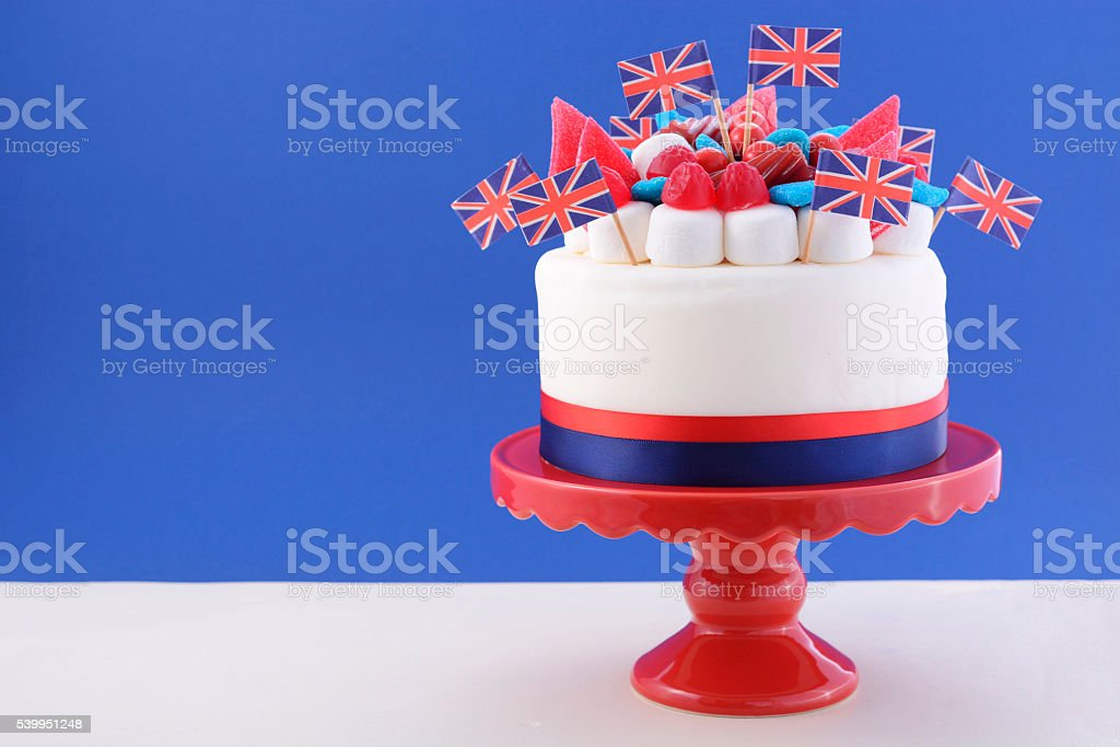 UK celebration cake stock photo