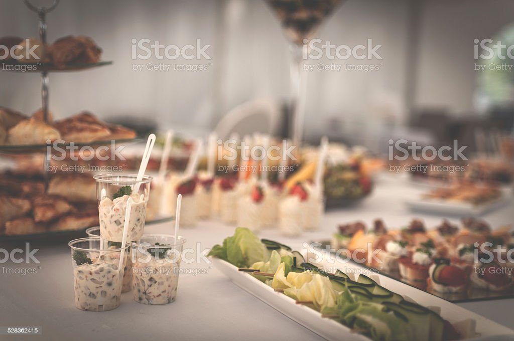 Celebration Catering stock photo