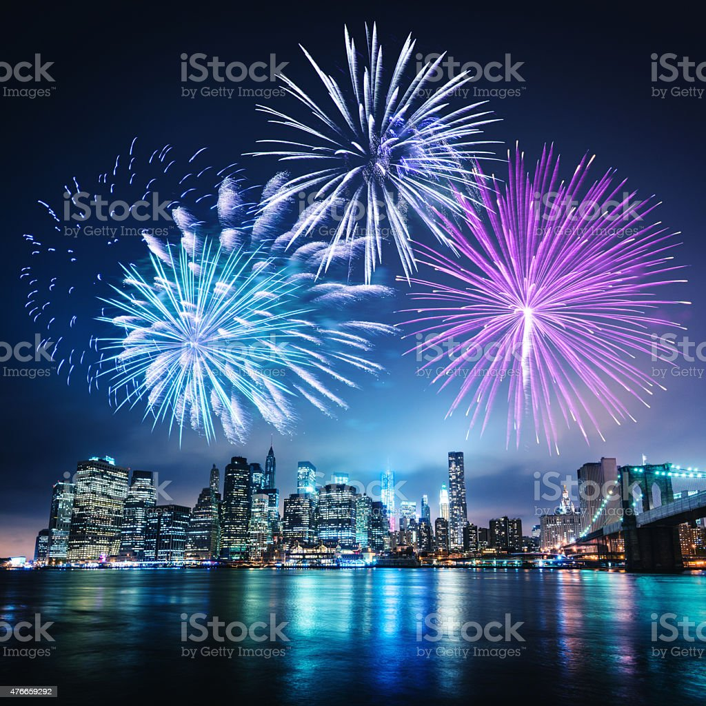 celebration day in new york city stock photo