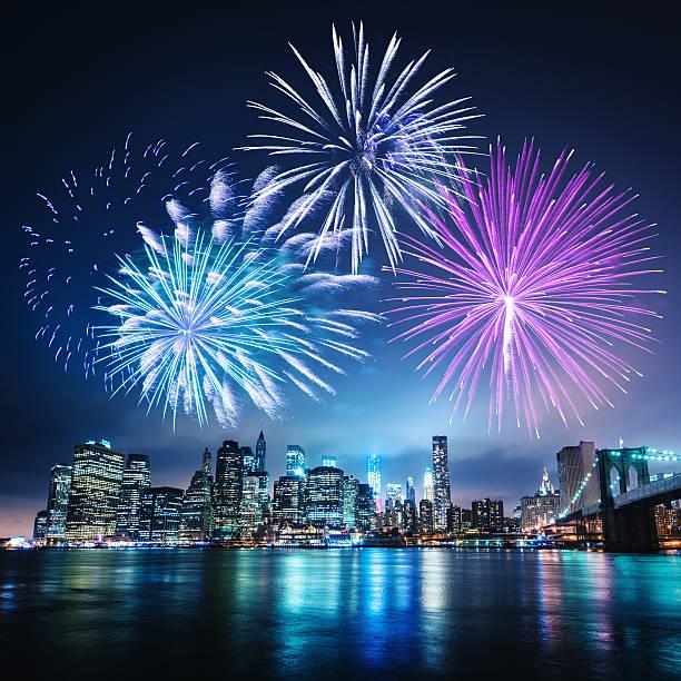 celebration tag in new york city - new york new year stock-fotos und bilder