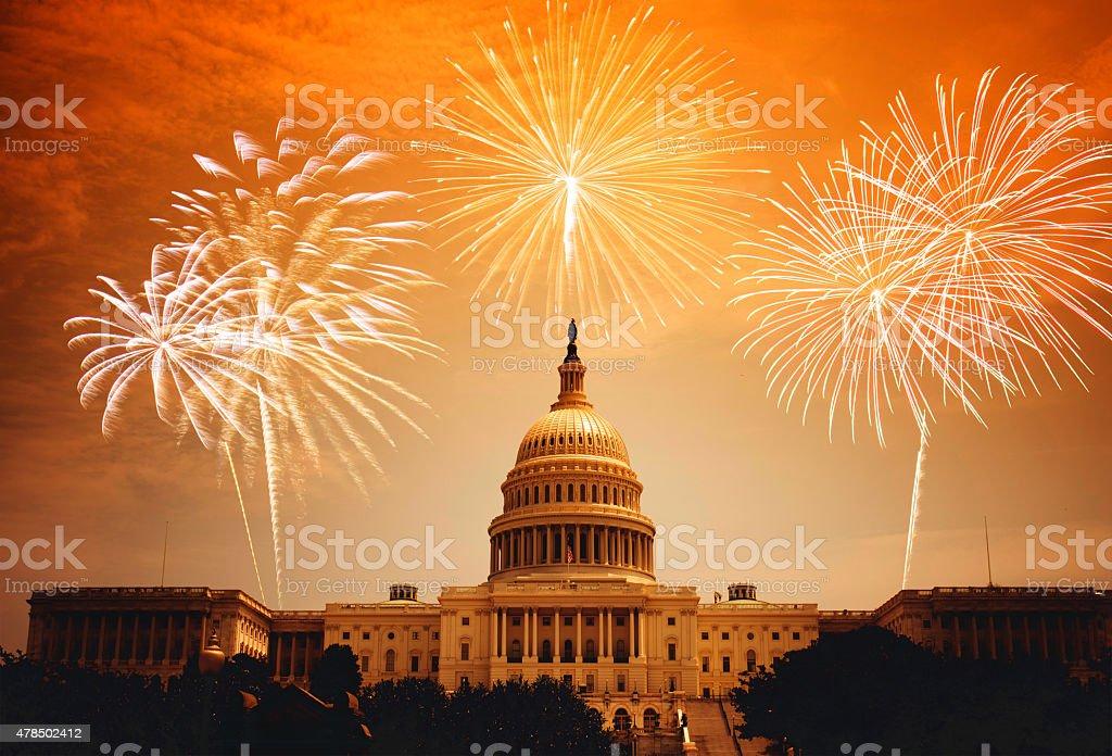 celebration day in washington dc stock photo