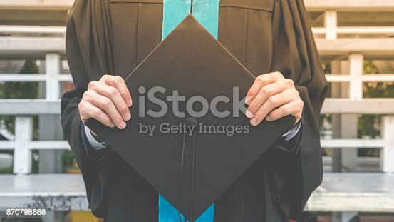 istock Celebration education graduation commencement of Asian for background. 870798666