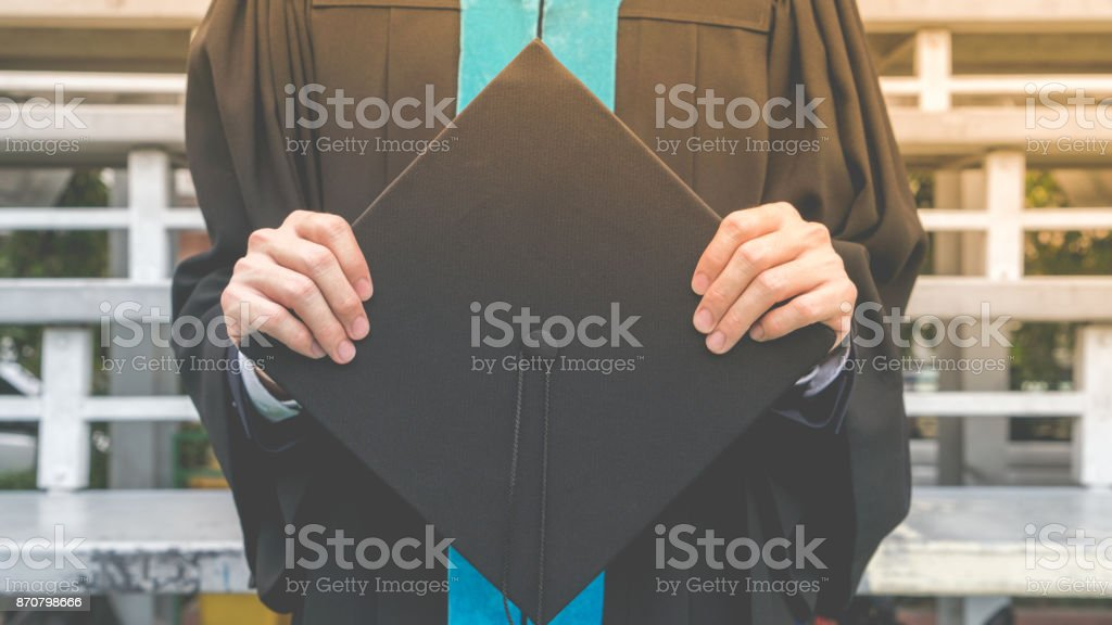 Celebration education graduation commencement of Asian for background. stock photo