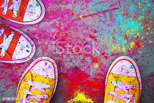 istock Celebration Festival Holi. Detail close-up 510629102