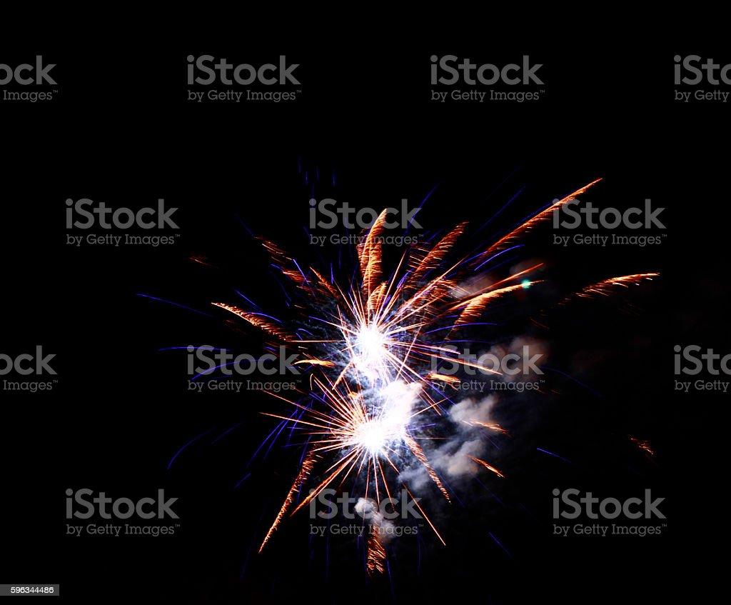 Celebration firework in the black night sky royalty-free stock photo