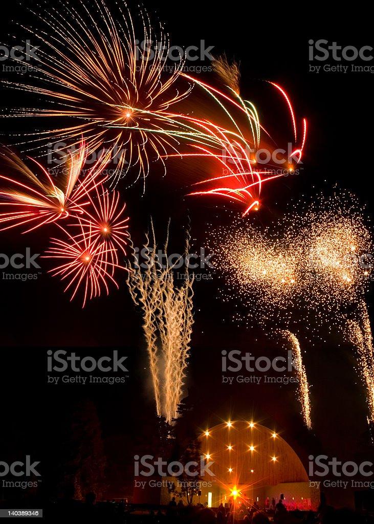 Celebration Fireworks royalty-free stock photo