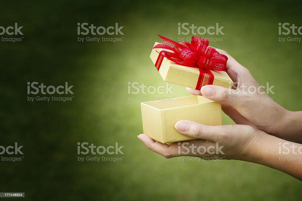 Celebration gift box stock photo