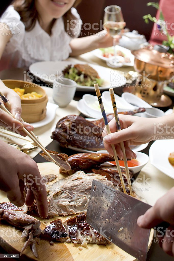 Celebration in chineese restaurant royalty-free stock photo