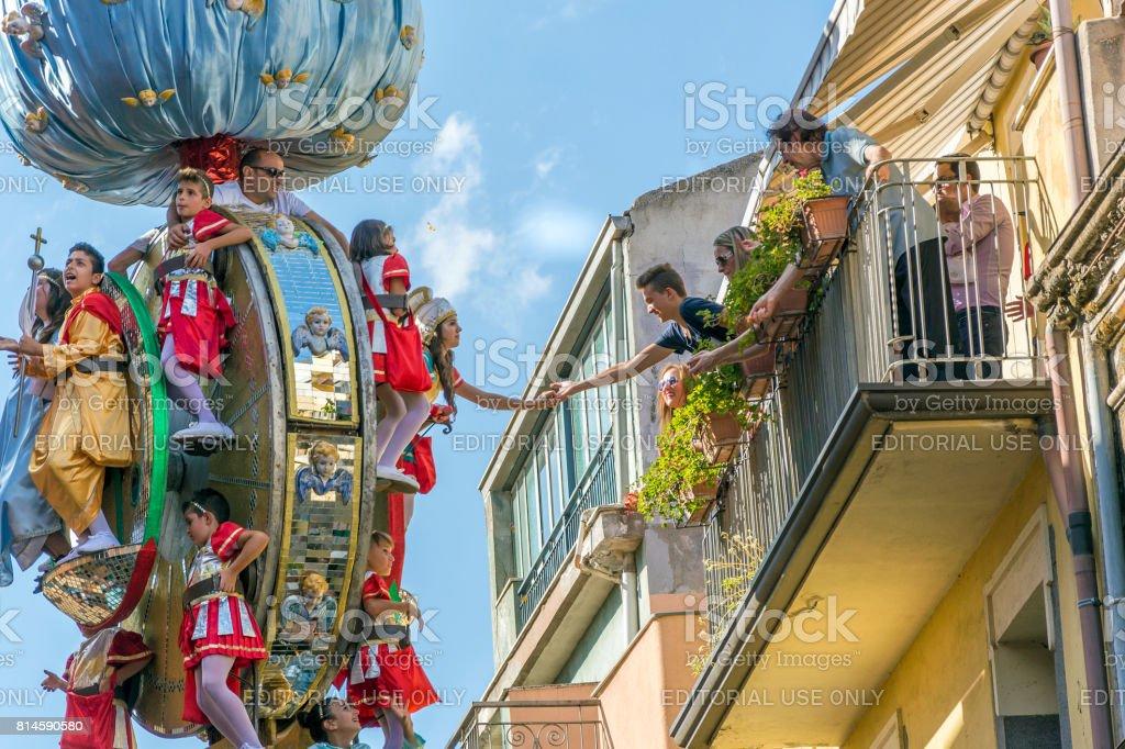 Célébration en l'honneur de Mary SS. Assumption à Randazzo, Sicile, Italie - Photo