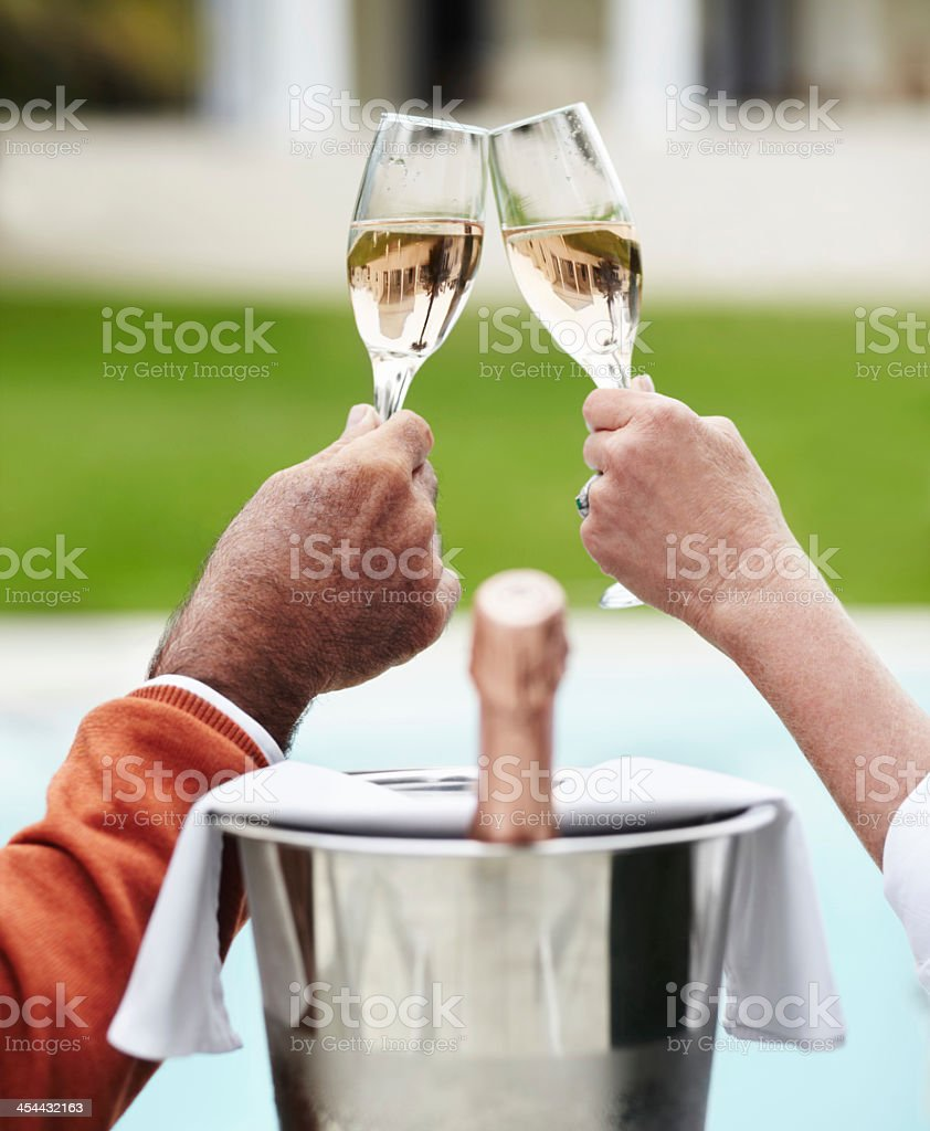 Celebration life with champagne royalty-free stock photo