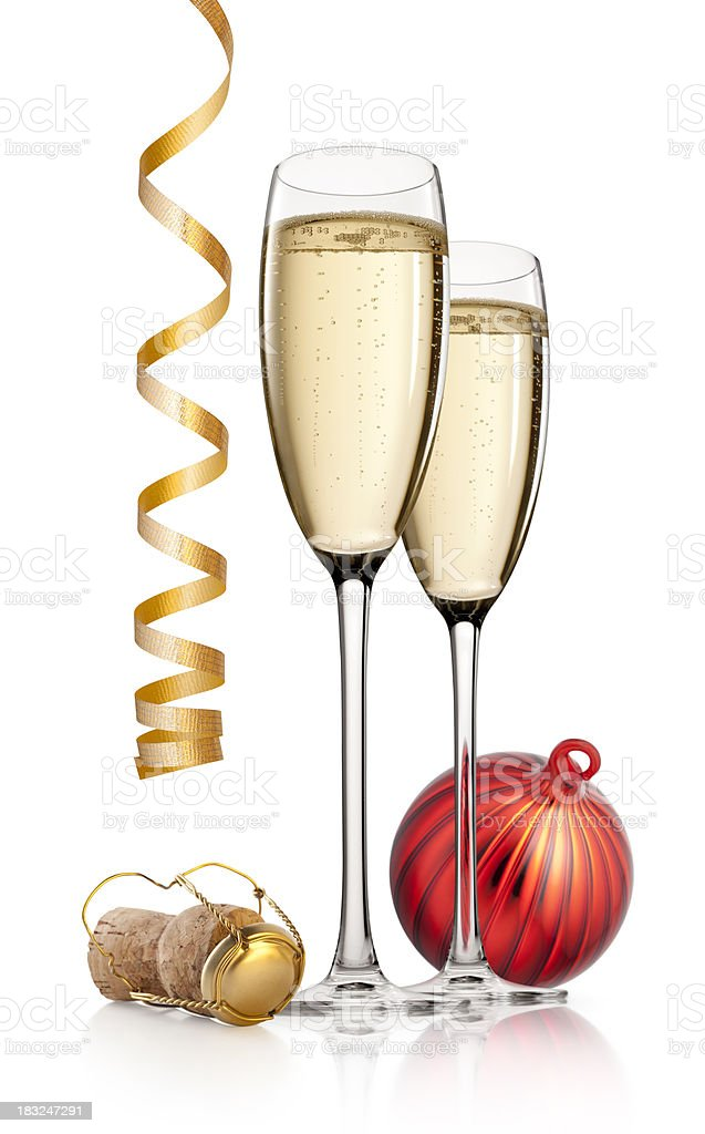 Celebration. New Year's toast. royalty-free stock photo