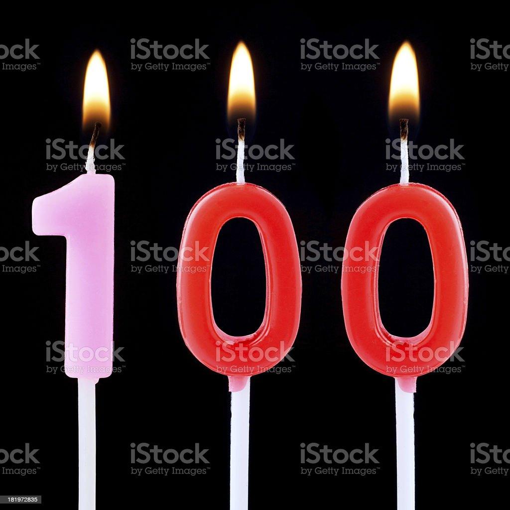 Celebration Number one hundred stock photo