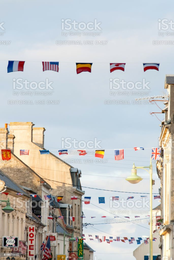 Celebration of  65th anniversary of the D-Day invasion on June 7, 2009. stock photo