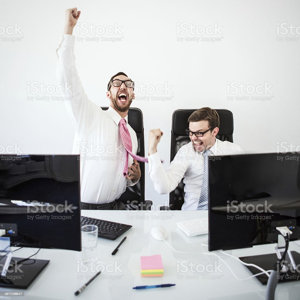 Celebration of Business Success royalty-free stock photo