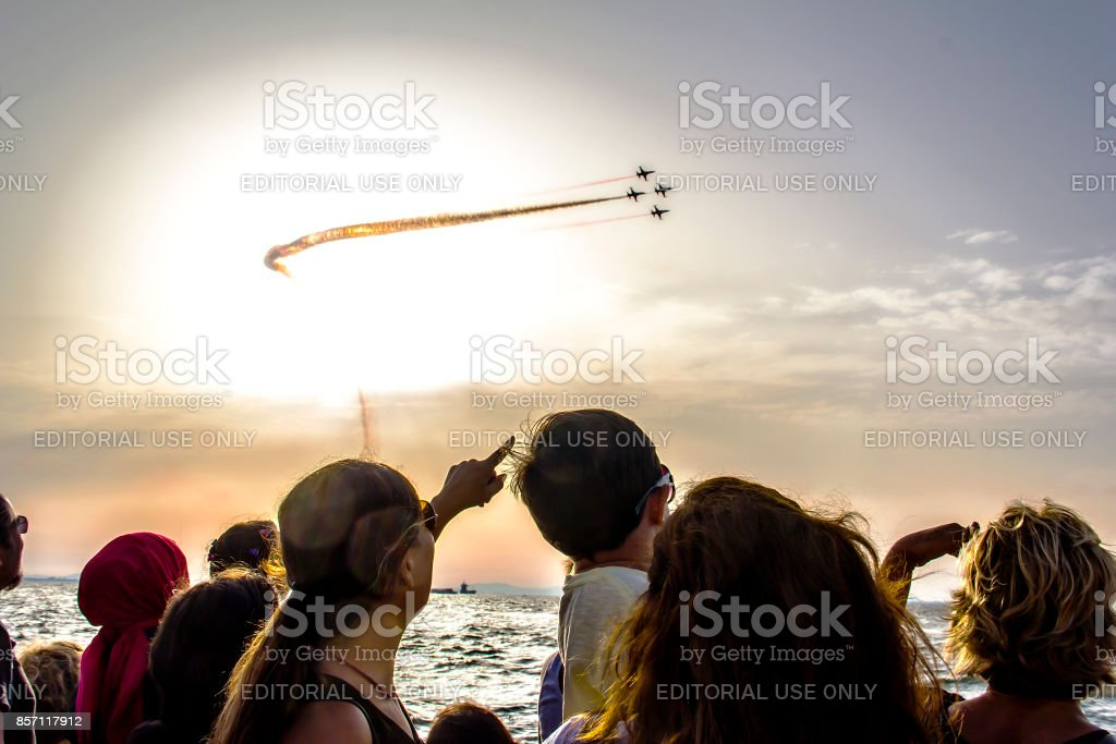 Celebration Of Izmir's Independence Day stock photo