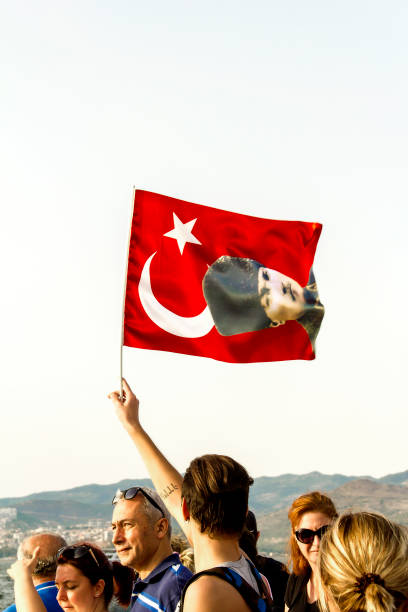Celebration Of Izmir's Independence Day stock photo