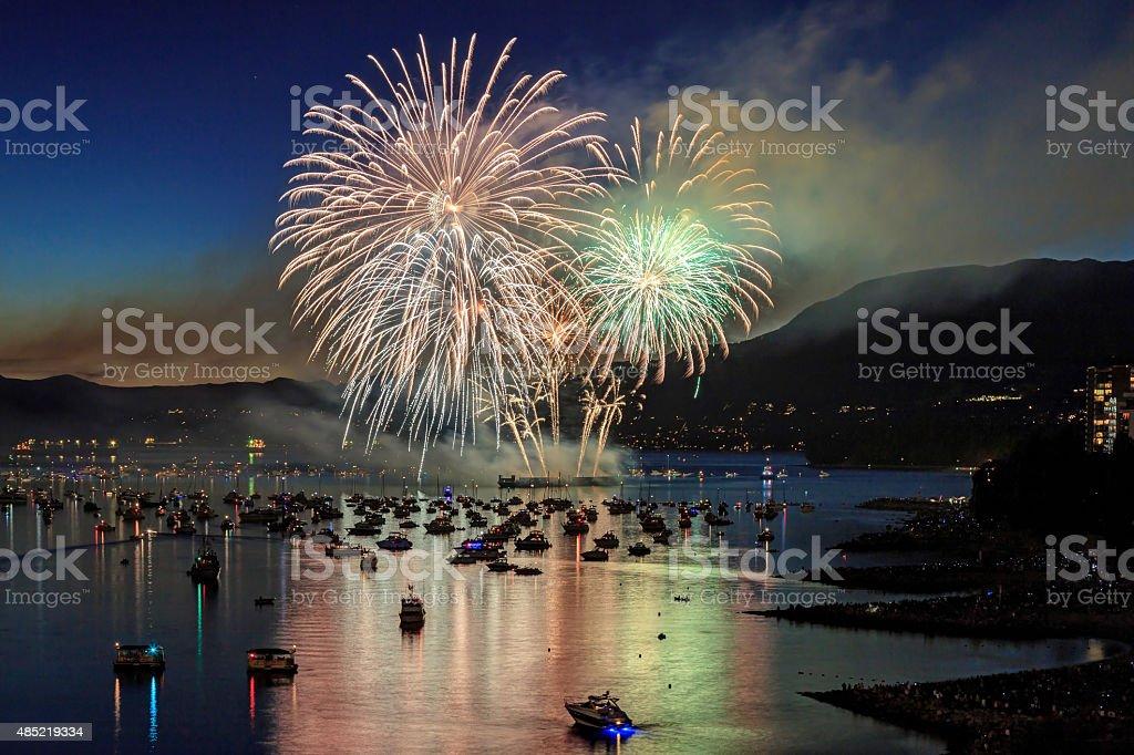 Celebration of Light - fireworks competition stock photo
