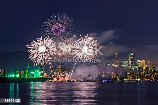 istock Celebration of Light - fireworks competition 488654106