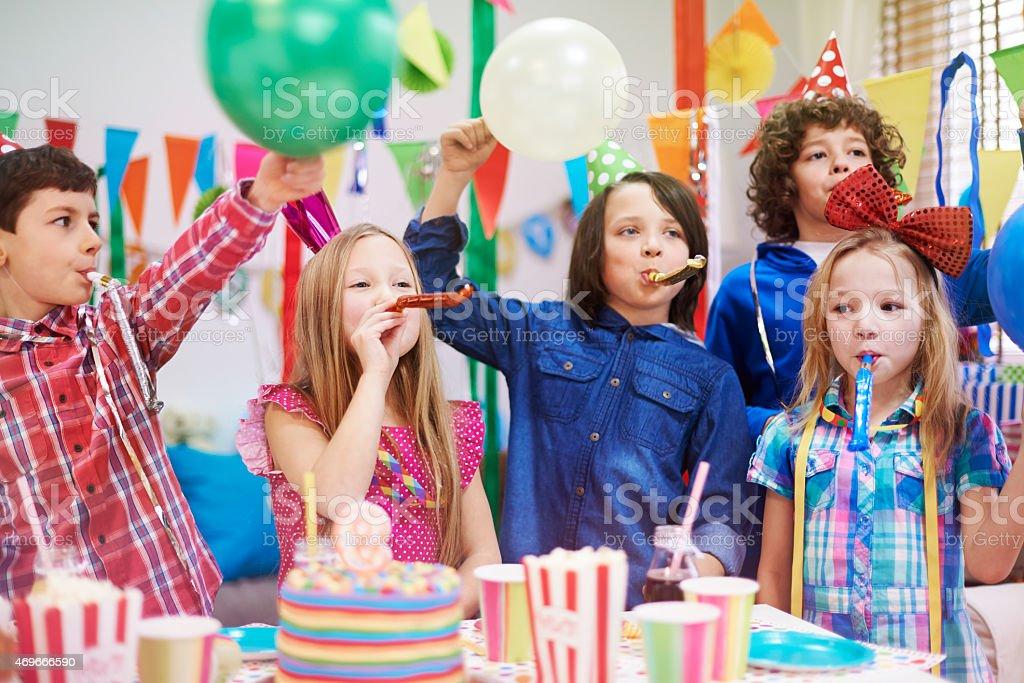 Celebration of ninth birthday our friend stock photo
