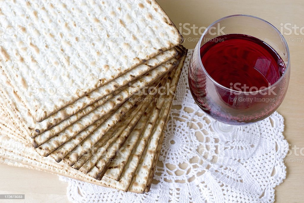 Celebration of Passover stock photo