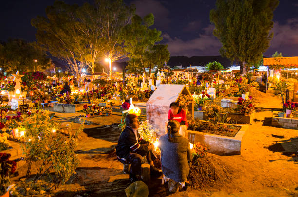 Celebration of the Day of the Dead in Oaxaca, Mexico stock photo